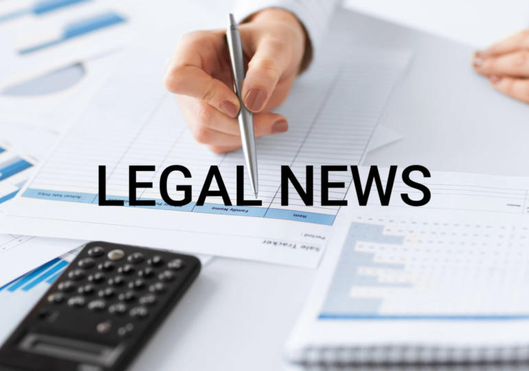 Legal news – 28 Maggio