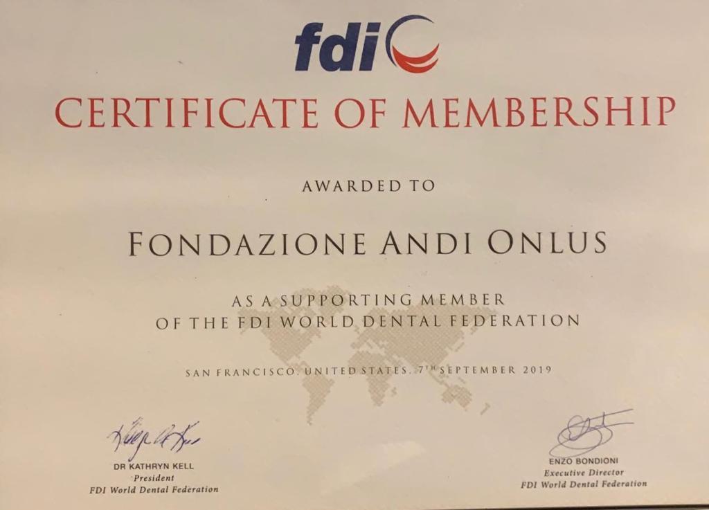 Fondazione ANDI è Supporting Membership di FDI